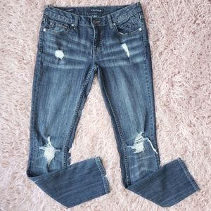 Vigoss Distressed The Thompson Tomboy Jeans 26